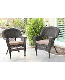 Jeco Wicker Chair with Cushion - Set of 4