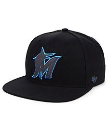 Miami Marlins Iridescent Snapback Cap