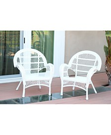 Jeco Santa Maria Wicker Chair - Set of 2