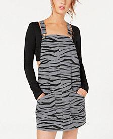 Material Girl Juniors' Printed Jumper Dress, Created for Macy's
