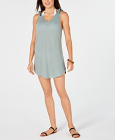Miken Juniors' Tie-Shoulder V-Neck Cover-Up Dress, Created for Macy's