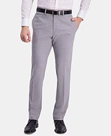Men's Slim-Fit Stretch Pattern Dress Pants