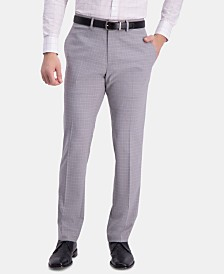 Kenneth Cole Reaction Men's Slim-Fit Performance Stretch Mini-Plaid Dress Pants