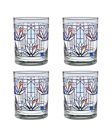 Frank Lloyd Wright Water Lilies Double Old Fashioned Glass - Set of 4