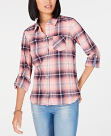 Tommy Hilfiger Plaid Utility Shirt, Created for Macy's