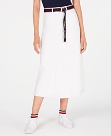 Tommy Hilfiger Denim Midi Skirt, Created for Macy's