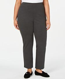 Karen Scott Plus Size Straight-Leg Pants, Created for Macy's