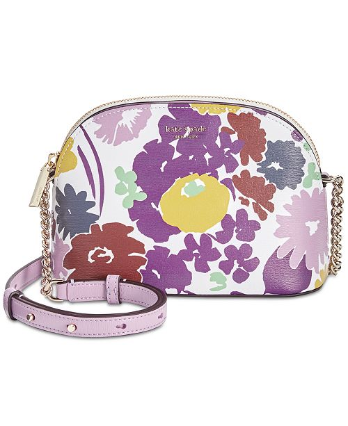 kate spade new york Sylvia Swing Flora Small Dome Crossbody