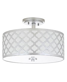 "Kora Quatrefoil 3 Light 15""D Gold Flush Mount"