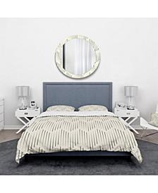 Designart 'Zigzag Background Minimal Striped Design' Scandinavian Duvet Cover Set - Queen