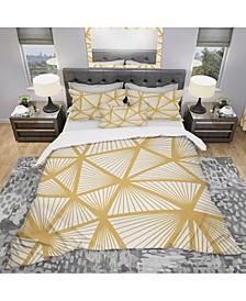 Designart 'Art Deco Geometric Decorative Pattern' Modern Duvet Cover Set - Queen