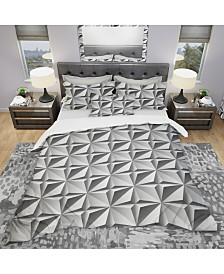 Designart 'Engraved Pattern' Modern and Contemporary Duvet Cover Set - King