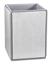 DKNY Grey Wood Wastebasket