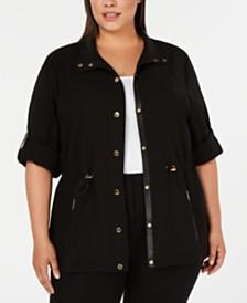 Calvin Klein Plus Size 3/4-Sleeve Anorak