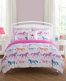 Unicorn Parade Twin 5 Piece Comforter Set