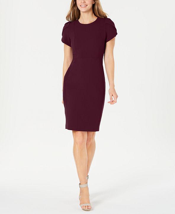 Calvin Klein Tulip-Sleeve Sheath Dress