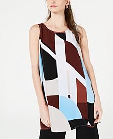 Printed Sleeveless Tunic Top, Created for Macy's