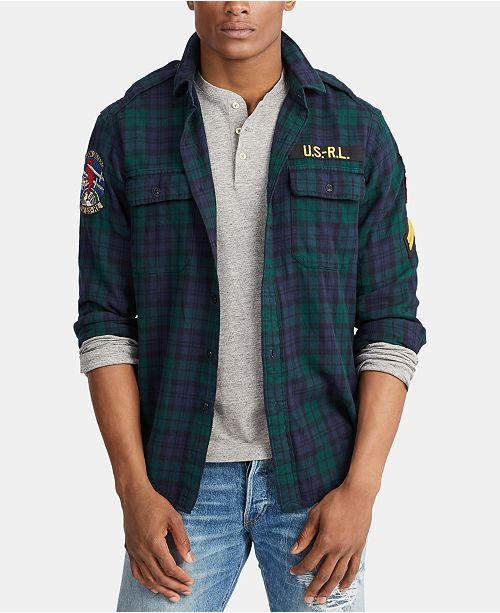 Polo Ralph Lauren Men's Twill Military Sport Shirt
