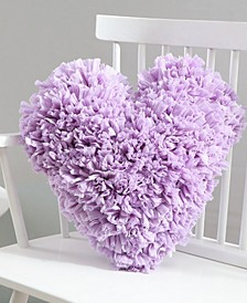Calista 18x18 Heart Paper Shag Pillow