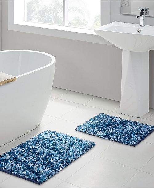 VCNY Home Di Shag 2-Pc. Bath Rug Set