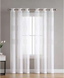 Danby Knit Semi Sheer 38X84 Panel Pair