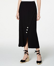 Crinkle Texture Button Skirt, Created for Macy's