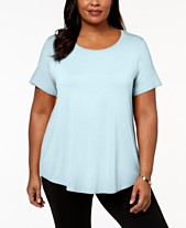 64842f10a36abc JM Collection Plus Size Short-Sleeve Top, Created for Macy's