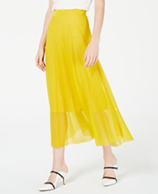 Alfani Pull-On A-Line Midi Skirt, Created for Macy's
