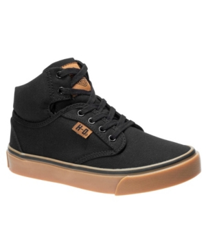 Harley Davidson Youth Boys Canvas Hi Top Lace Up Shoe