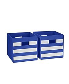 Riverridge 2 Pc. Striped Folding Storage Bin Set