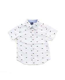 Toddler Boys Printed Button Down Shirt