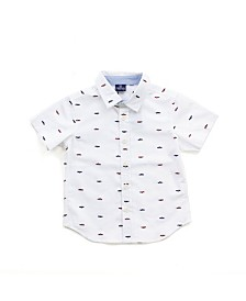 Bear Camp Toddler Boys Printed Button Down Shirt