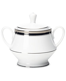 Noritake Dinnerware, Austin Platinum Sugar with Lid