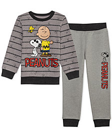 Peanuts Little Boys 2-Pc. Sweatshirt & Joggers Set