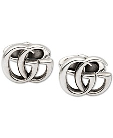 Men's Interlocking G Logo Cuff Links in Sterling Silver