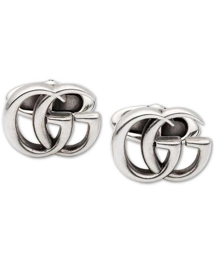 Gucci - Men's Interlocking G Logo Cuff Links in Sterling Silver,