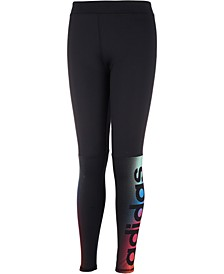 Big Girls Linear Fade Logo Leggings