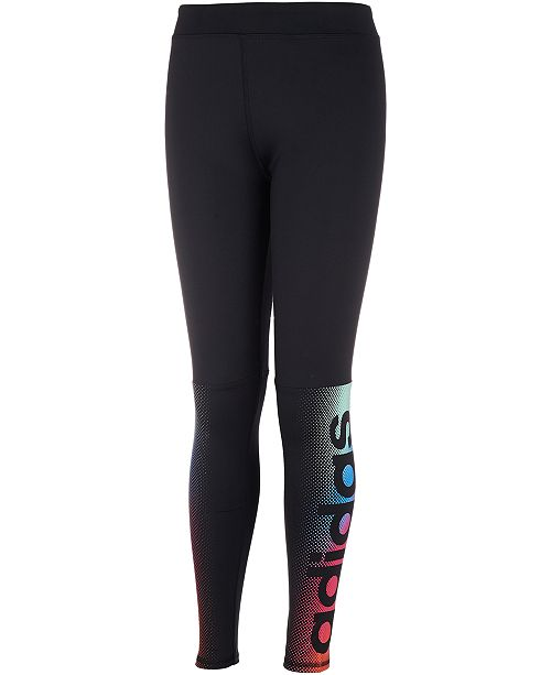 adidas Big Girls Linear Fade Logo Leggings