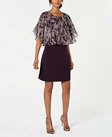 Petite Printed Popover A-Line Dress