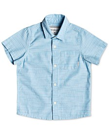 Quiksilver Big Boys Striped Cotton Shirt