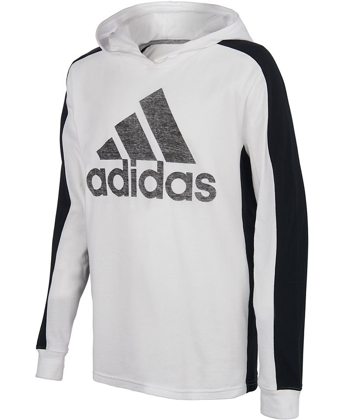 adidas Big Boys Logo-Print Long Sleeve Hooded T-shirt & Reviews ...