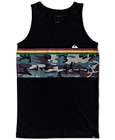Quiksilver Big Boys Down Under Stripe Cotton Tank Top