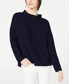 Eileen Fisher Funnel-Neck High-Low Sweater