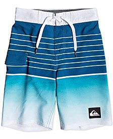 "Toddler & Little Boys Highline Colorblocked Striped 14"" Swim Trunks"