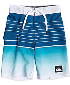 "Quiksilver Toddler & Little Boys Highline Colorblocked Striped 14"" Swim Trunks"