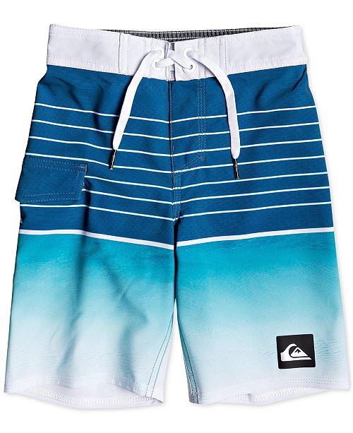 428473fa1b Toddler & Little Boys Highline Colorblocked Striped 14 Swim Trunks