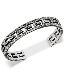 Openwork G Logo Cuff Bracelet in Sterling Silver
