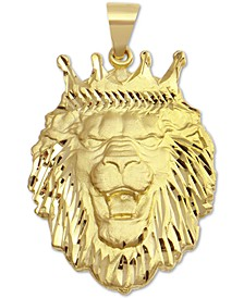 Lion Crown Pendant in 10k Gold