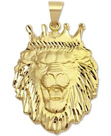 Lion Crown Pendant in 10k Gold