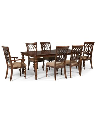 crestwood dining room furniture, 7 piece set (dining table, 4 side